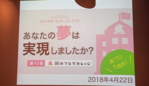 【第12回 岡山ブログカレッジ】祝 一周年!一年前の夢はかなったのか