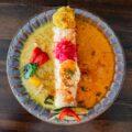 【ラフィング・ブッダ・カフェ】南インド風カレーとグリーンカレーのエスニックな2種のカレー(里庄町里見)